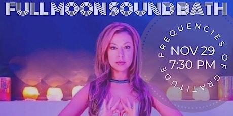 Full Moon Sound Bath: Frequencies of Gratitude tickets