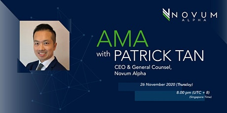 Trading Cryptocurrencies - AMA with Patrick Tan of Novum Alpha tickets