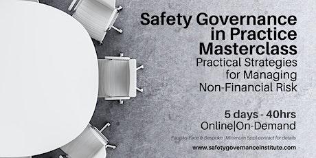 Masterclass - Safety Governance Tickets