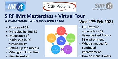 VICTAS IMRt Master Class | 5S in Maintenance CSF Proteins Laverton tickets