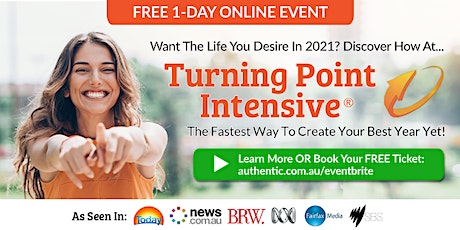 """Free 1-Day Online Event: """"Turning Point Intensive"""" – Jan 9 tickets"""