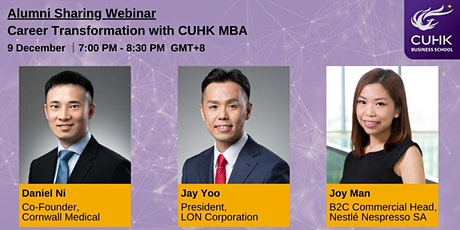 Career Transformation with CUHK MBA tickets