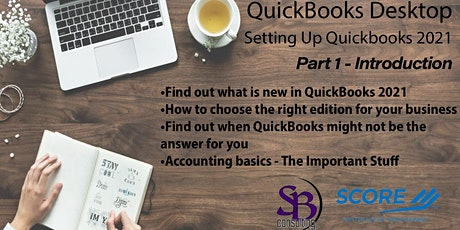 Setting Up QuickBooks Desktop 2021 - INTRODUCTION tickets