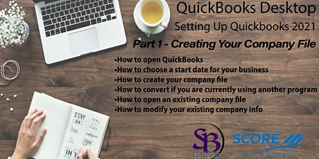 Setting Up QuickBooks Desktop 2021 -  CREATING YOUR COMPANY FILE tickets
