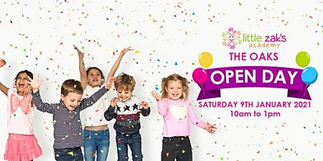 Little Zak's Academy The Oaks -  Open Day Fair! tickets