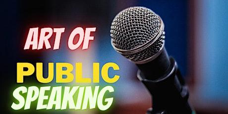 PUBLIC SPEAKING- THE 5X METHOD  tickets
