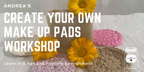 Andrea's Crochet your own Make up pads workshop tickets