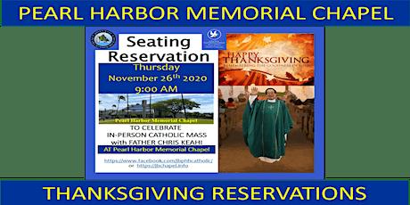 JBPHH Pearl Harbor Chapel Thanksgiving Thursday 9:00 AM Catholic Mass tickets
