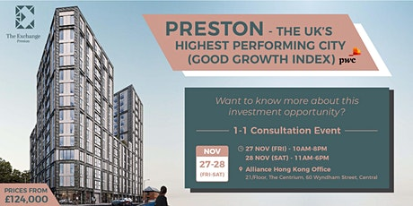 Preston - The UK's Highest Performing City | 1-1 Consultation Event tickets