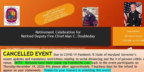 Doubleday Retirement Luncheon 2020 CANCELLED EVENT due to COVID-19 Pandemic tickets