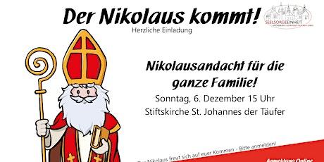 Nikolausandacht für die ganze Familie! Tickets