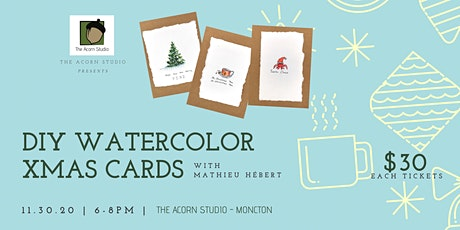 DIY Watercolor Xmas Cards Workshops at The Acorn Studio tickets