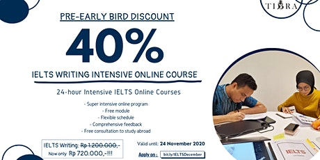 IELTS WRITING INTENSIVE ONLINE COURSES tickets