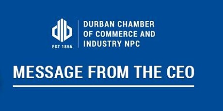 Notice of the Durban Chamber's Virtual AGM tickets