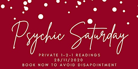 Psychic Saturday  ONLINE Private 1-2-1 readings tickets