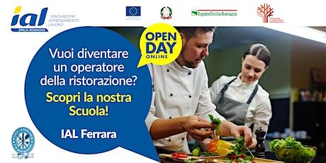 Copia di Open Day online Scuola Alberghiera e di Ristorazione di Ferrara biglietti