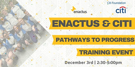 Enactus & Citi Pathways to Progress Programme Training Day tickets