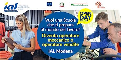 Open Day online Scuola IAL Modena: Meccanica e Vendite biglietti
