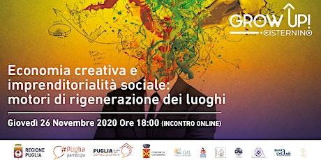 Economia creativa e imprenditorialità sociale biglietti