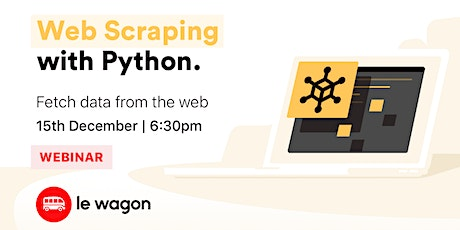 [Webinar] Python Web Scraping tickets