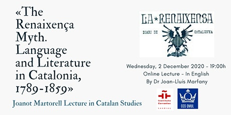 "«The ""Renaixença"" Myth. Language and Literature in Catalonia, 1789-1859» tickets"