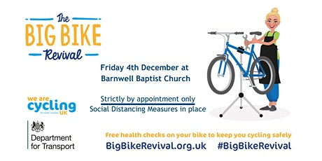 Free Dr Bike Repair Session @ Barnwell Baptist Church tickets