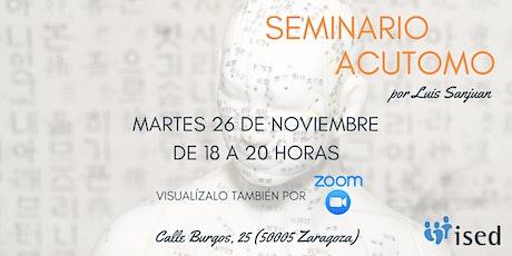 Seminario Acutomo - Online entradas
