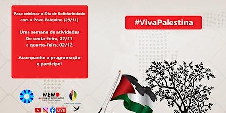 América Latina em solidariedade à Palestina bilhetes