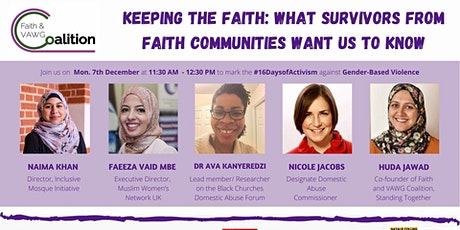 Keeping the Faith: What Survivors From Faith Communities Want Us To Know tickets