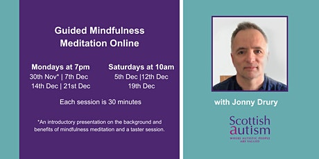 Guided Mindfulness Meditation Online with Jonny Drury tickets