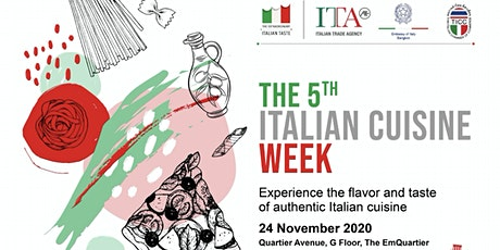 The 5th Italian Cuisine Week in Thailand at Emquartier Mall tickets