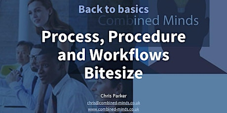 Processes, Procedures and Workflows Bitesize Training tickets
