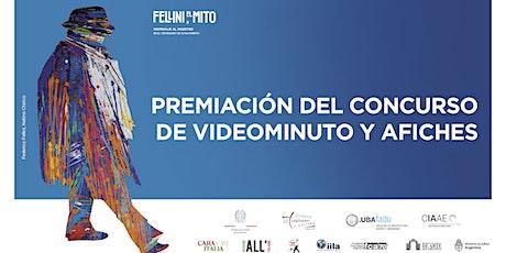 FELLINI, IL MITO - Premiación de los concursos de Videominuto y Afiches entradas
