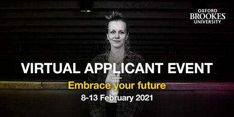 Oxford Brookes Undergraduate Virtual Applicant Event - 8-13 February tickets
