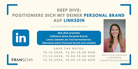 Deep Dive: Positioniere dich mit deiner Personal Brand auf LinkedIn Tickets