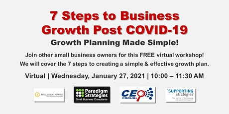 7 Steps to Business Growth Post COVID-19 tickets