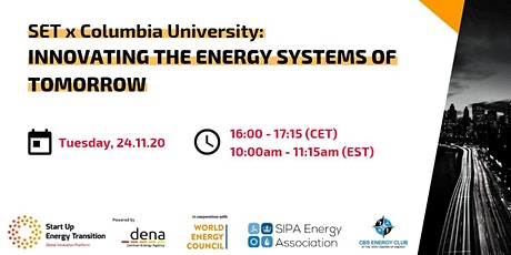 SET X Columbia University: Innovating Energy Systems of Tomorrow tickets