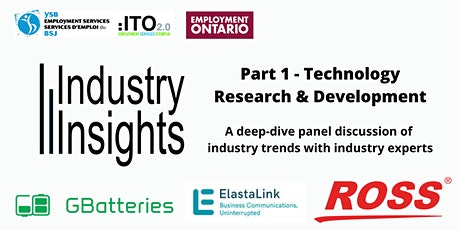 Industry Insights - Session 1 - Technology / Research & Development tickets
