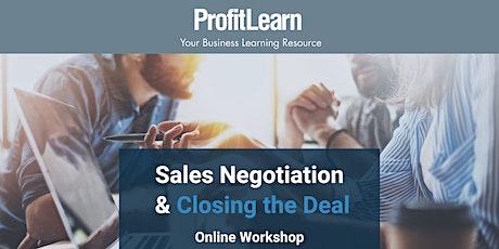 Sales Negotiation & Closing the Deal (Online Workshop) tickets