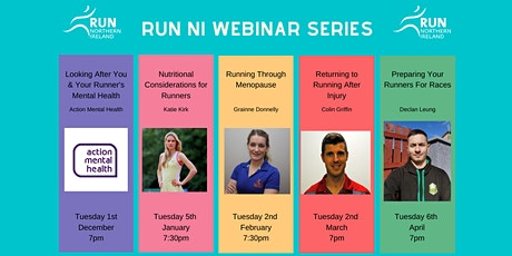Run NI Webinar Series- Running Through Menopause tickets