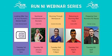 Run NI Webinar Series- Returning to Running After Injury tickets