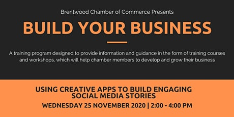 Build Your Business: Build Engaging Social Media Stories with Creative Apps tickets