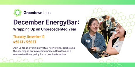 December Virtual EnergyBar: Wrapping Up an Unprecedented Year tickets