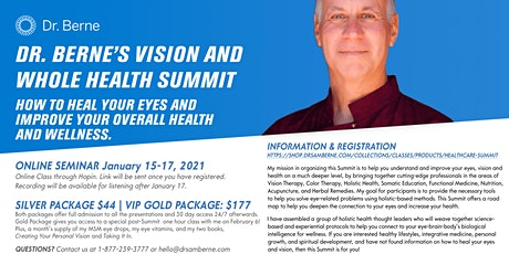 Dr. Berne's Vision and Whole Health Online Health Summit tickets