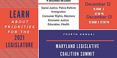 Maryland Legislative Coaltion Summit Dec.13, 2020 02:00 AM-Education Health tickets