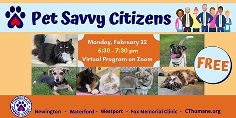 Pet Savvy Citizens Lucy Robbins Welles Library tickets