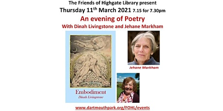 An evening of Poetry with Dinah Livingstone & Jehane Markham tickets