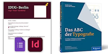 IDUGB#49 am 04.12.2020 – Ein kleines InDesign-Projekt + Buchvorstellung Tickets
