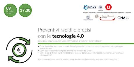 Preventivi rapidi e precisi con le tecnologie 4.0 biglietti