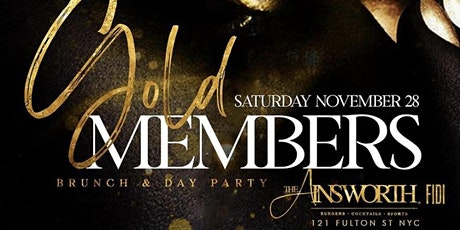 GoldMembers Brunch Day Party Ainsworth FIDI prefix 2hr unlimited Drinks tickets